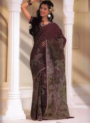 Saree Cambric Cotton Designer Prints With Blouse Piece D.No D1054