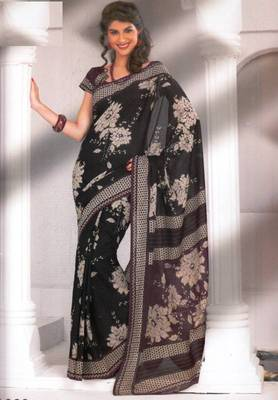Saree Cambric Cotton Designer Prints With Blouse Piece D.No D1060