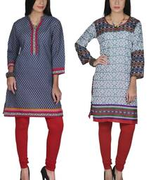 Buy Multicolor printed cotton stitched kurti combo-kurtis online