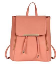 Buy Peach pu cadence backpack backpack online