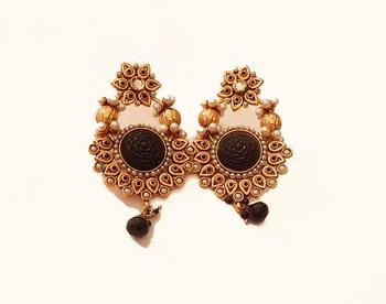 Black acyrlic earrings
