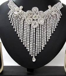 Buy White Stone Party Wear Necklace Set necklace-set online