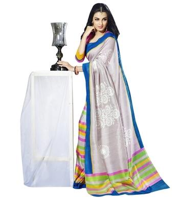 Triveni Admirable Multi Colored Bhagalpuri Silk Traditional Saree TSVF10011
