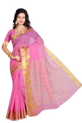 Pink maheshwari  saree with blouse