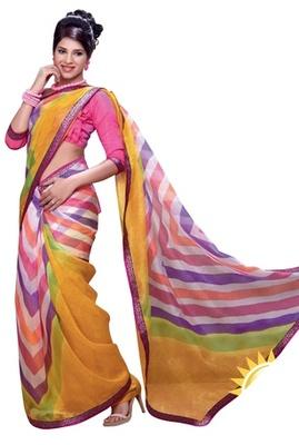 Triveni Amiable Colorful Supernet Casual Printed Indian Designer Saree TSVF9718