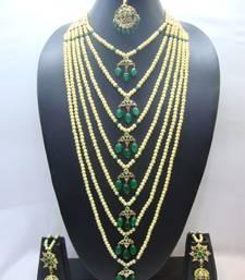 Buy Multicolor american diamonds necklace-sets bridal-set online