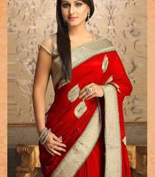 Gorgeous New Attractive Red Designer Saree shop online
