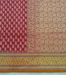 Buy Pink hand woven banarasi saree with blouse banarasi-saree online