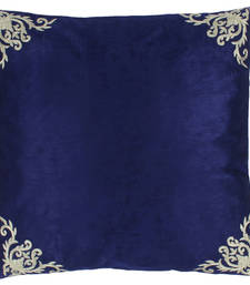 Buy 4 butta corner embroidered pattern cushion cover and blue (16 x 16 inch) cushion-cover online
