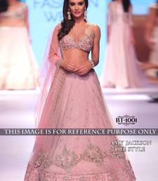 Buy light_pink embroidered net unstitched lehenga bollywood-lehenga online
