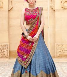 Buy lehenga choli by fabkaz (Pink and Grey) black-friday-deal-sale online