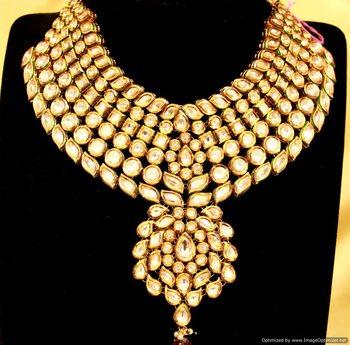 Kundan meenakari Bridal Necklace Set