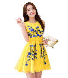 Buy New Arrival Designer Attractive and Fancy Yellow Color Kurti party-wear-kurti online
