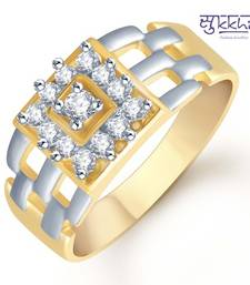Buy Sukkhi Gold and Rhodium Plated CZ Ring for Men(105GRK600) gifts-for-him online