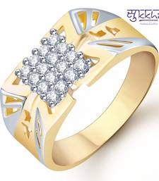 Buy Sukkhi Gold and Rhodium Plated CZ Ring for Men(113GRK600) gifts-for-husband online