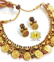 Buy  Temple jewellery coin necklace necklace-set online