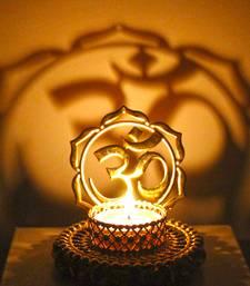 Buy Shadow diya tealight candle holder of removable ethnic designary om diya online