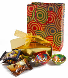 Buy Diwali chocolate dates hamper with clay diya set diwali-gift online