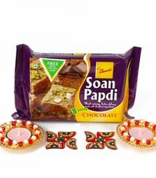 Buy Diwali combo hamper with metal diya and soan papdi diwali-gift-hampers-idea online