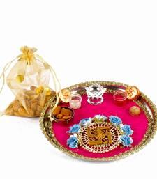 Buy Healthy gift of bhadooj thali with almonds diwali-puja-thali online