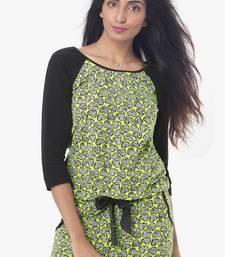 Buy Multicolor cotton tops sleepwear sleepwear online