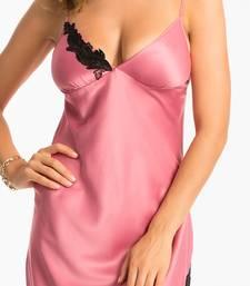 Buy PrettySecrets Dusky Rose Lacy Long Nightdress sleepwear online