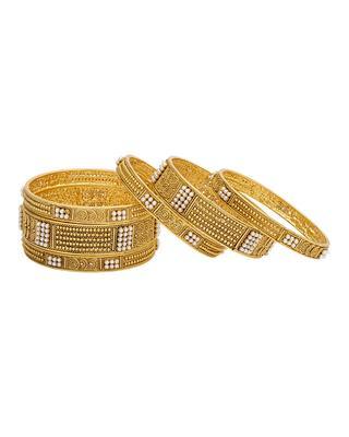 Gold stone bangles-and-bracelets