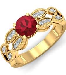 Buy 0.15ct diamond 18kt rings astrology-ring online