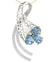 Buy 0.15ct diamond 18kt gold pendants gemstone-pendant online