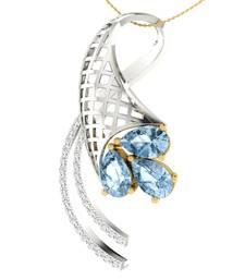 Buy 0.17ct diamond 18kt gold pendants gemstone-pendant online