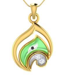 Buy 0.07ct diamond 18kt gold pendants gemstone-pendant online