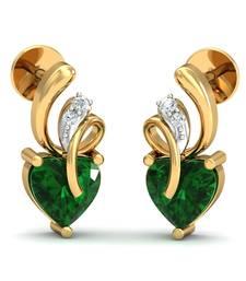 Buy 0.034ct diamond studs 18kt gold earrings gemstone-earring online