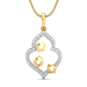 0.16ct diamond 18kt gold pendants