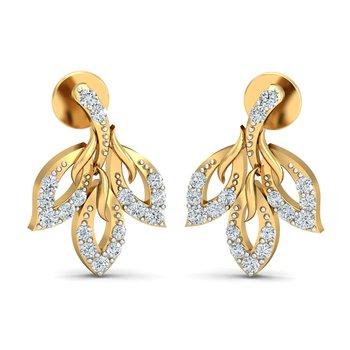 0.25ct diamond studs 18kt gold earrings