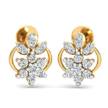 0.28ct diamond studs 18kt gold earrings