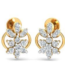 Buy 0.28ct diamond studs 18kt gold earrings gemstone-earring online