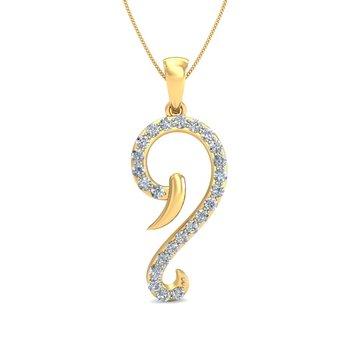 0.24ct diamond 18kt gold pendants