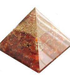 Buy Carnelian 3.5 inch orgonite pyramid stone for happiness and prosperity other-gemstone online
