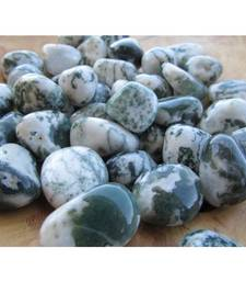 Buy Tree agate tumbled stone set of 5 pieces green/white colored gemstone jewellery other-gemstone online