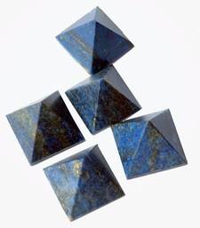 Buy Set of 5 lapis lazuli pyramid other-gemstone online