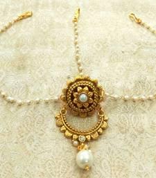Buy Multicolor pearl maang tikka maang-tikka online