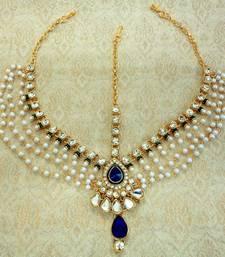 Buy Multicolor pearl maang tikka pakistani-jewellery online