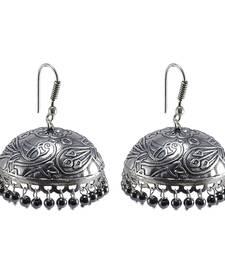 Buy Royal Traditon With Hematite -Dandiya Jhumka Earrings Jewlery jhumka online