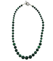 Buy   Green color mosaic beads journey necklace gemstone-necklace online