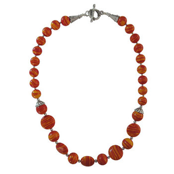 Bio-color mosaic beads journey necklace