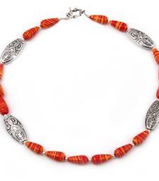 Buy   Scarlet affair mosaic beads necklace gemstone-necklace online