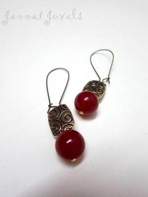 Red Onyx Earring