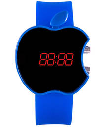 Buy Blue colour latest rubber strap led watch kids-watch online
