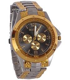 Buy Hot golden and silver colour latest stainless steel strap anlong wrist watch watch online