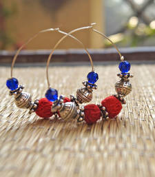 Buy red ethnic hoops fashion-deal online